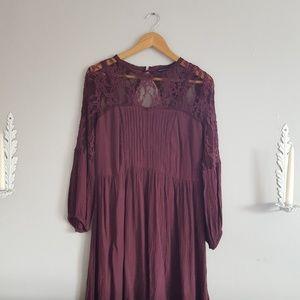American Eagle Dark Purple Lace Mini Dress